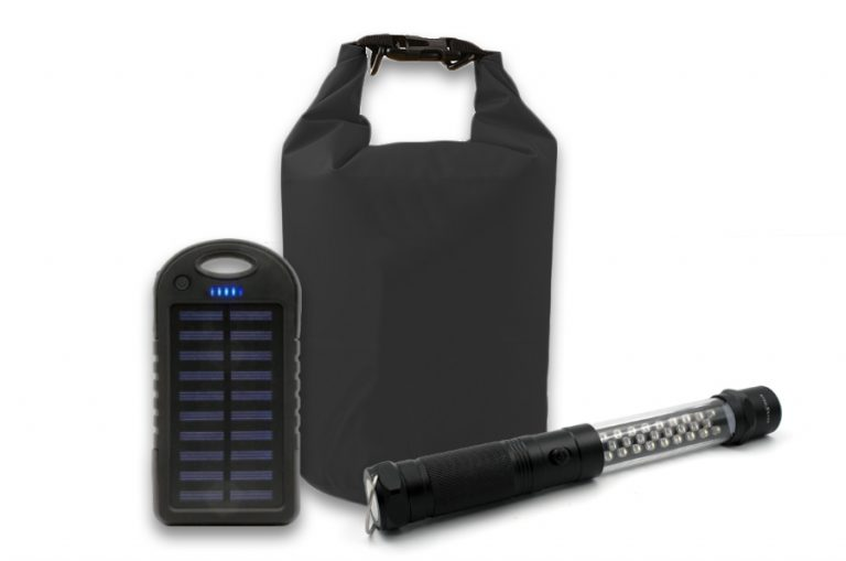 Exclusive – Solar Power Pack (3 Items Free) Solar Charger, Dry-Bag, Solar Lantern